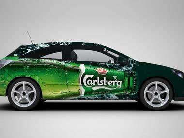 Vehicle Branding for Carlsberg