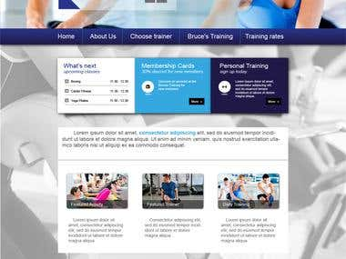 Fitness webdesign