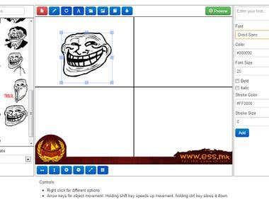 HTML5 Comic Builder