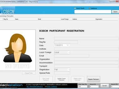 ICSECM INTERNATIONAL CONFERENCE 2013 Registration System