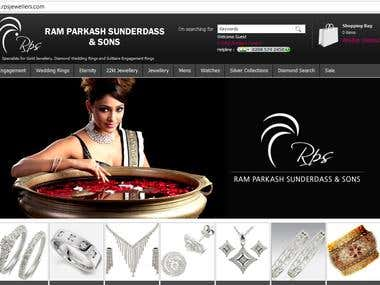 RPS Jewellers - eCommerce based website