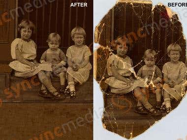 PHOTO EDITING AND RESTORING