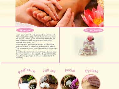 Creat Elite Nails & Day Spa website