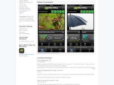 Met Office Weather application on the App Store on iTunes