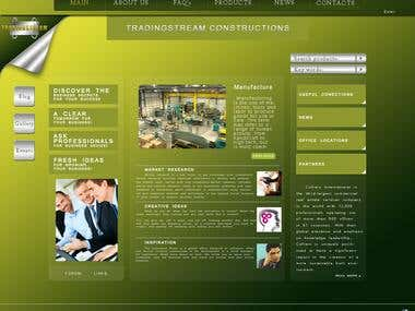 Site for marketing company.