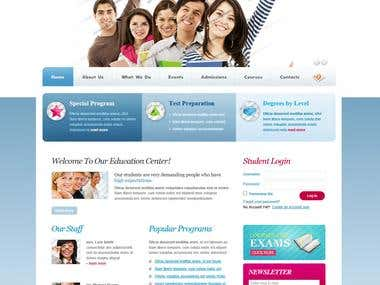CMS, HTML5, CSS, Jquery Project