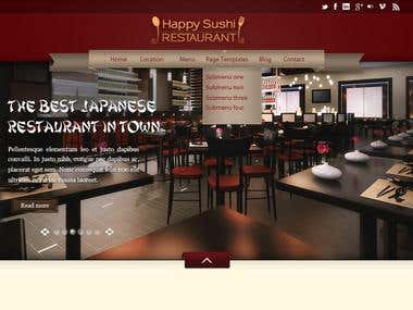 Happy Sushi Restaurant Website
