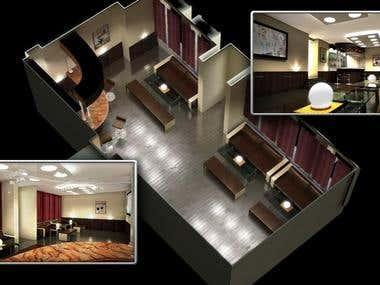 Interior 3D render