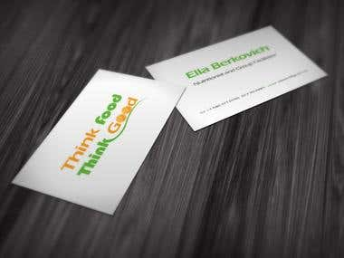 Think Food -logo & business card design