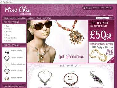 Miss Chic London - eCommerce based Fashion Showroom Website