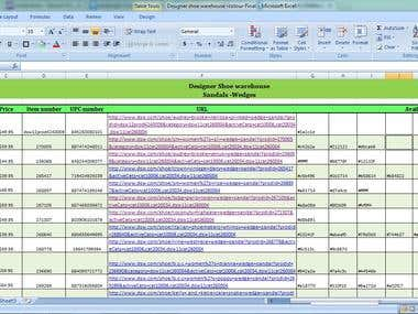 Web scraping and Excel