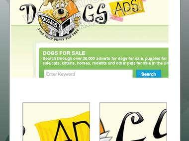 Dog Ads logo & web