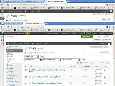 VA, data entry, transciber, Wordpress