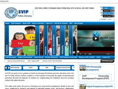 SVIP Online - eLearning concepts based website