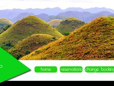 header of chocolate hills website(not official)
