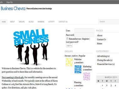 Businesschevra.com - wordpress & buddypress