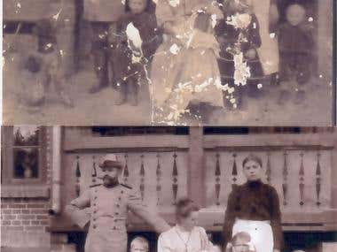 Old family picture restoration sample
