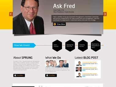 Sprung - Investment Website