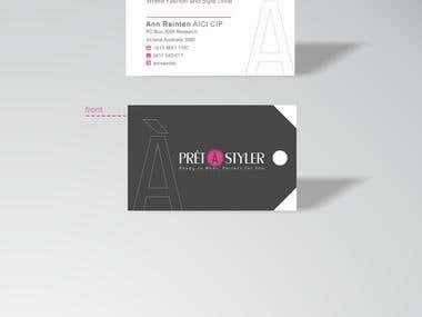 Business Cards for PretaStyler