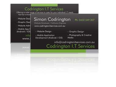 Codrington I.T Services Business Card