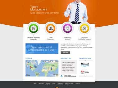 Corporate website for technology company