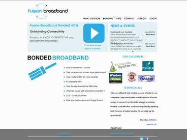 WordPress  Website for  Broadband Company at Australia
