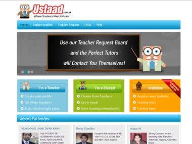 Ustaad Student and Teachers Website Portal