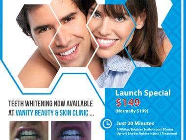Vanity Beauty & Skin Clinic Flyer