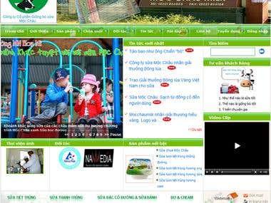Mocchau Milk Website