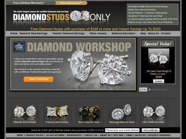 SEO Project: Diamondstudsonly.com