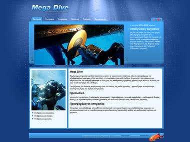 www.mega-dive.gr - Website for diving company
