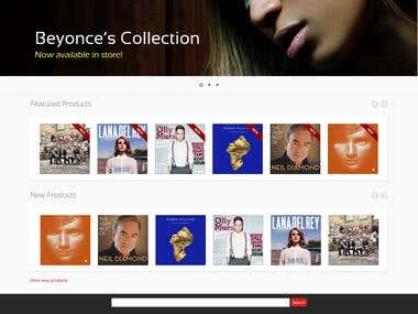 Music Store: Prestashop Theme Design