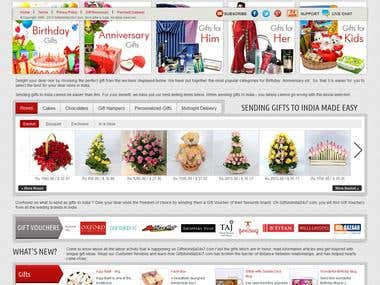 Online Gift Item Selling Company Website Development