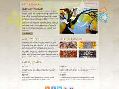 Creative Art Group Website Design