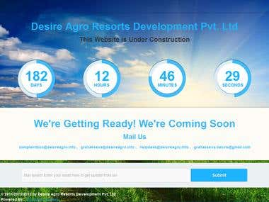 Responsive Coming soon with dynamic launching date time