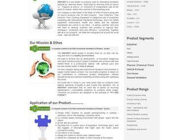 Indivent.co.in website design