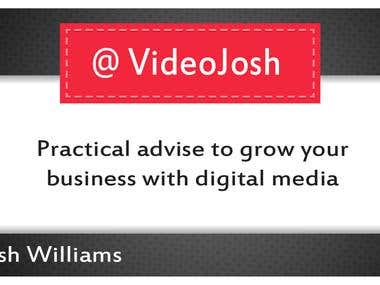 Video Josh logo and business card