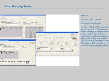 Loan-Managing System & Manufacturing Module