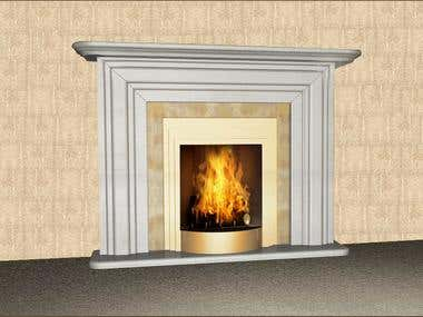 design of the fireplace