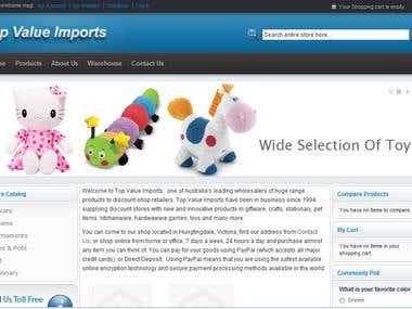 Ecommerce Website Based on Magento
