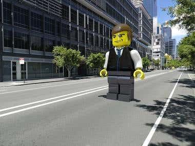 Giant brick man