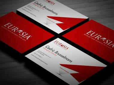 Eurosia Business Card Design