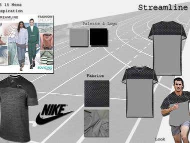 Sports Wear Design Concept Board