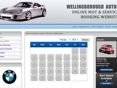 Online MOT Booking and Servicing System