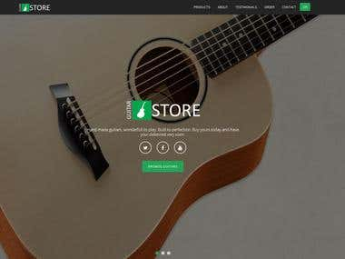 Guitar Store Site