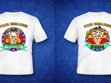 Shirts graphics fro pizzaria
