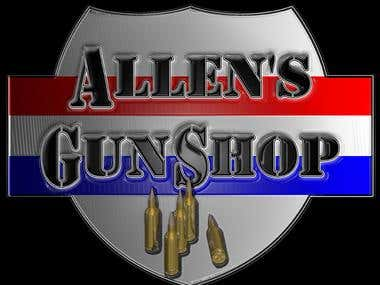 Logo for gun shop