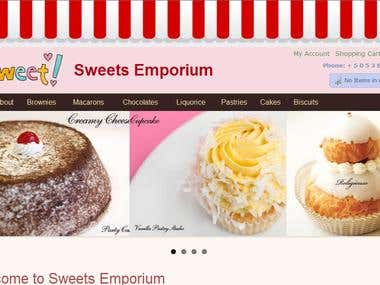 Online Sweets & Pastries Store