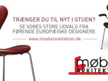 Advertise banners for www.moebelarkitekten.dk