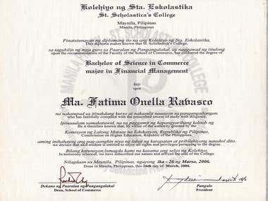 My College Diploma